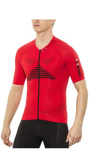 X-Bionic Effektor Biking Powershirt Short Sleeves Full Zip Men Flash Red/Black
